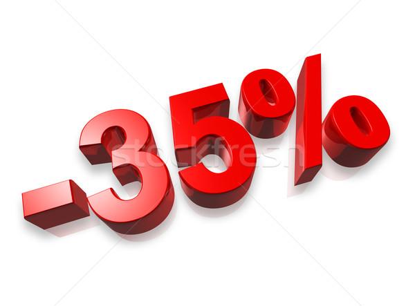 тридцать пять процент 3D числа изолированный Сток-фото © daboost