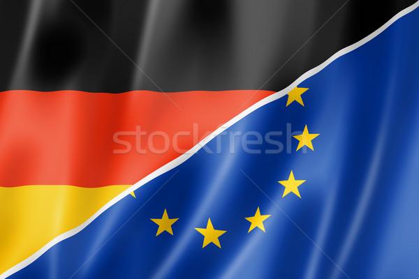 ドイツ ヨーロッパ フラグ 混合した ヨーロッパの 組合 ストックフォト © daboost