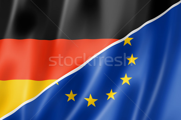 Duitsland Europa vlag gemengd europese unie Stockfoto © daboost