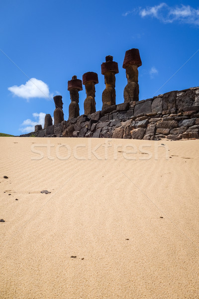 Praia Ilha de Páscoa Chile oceano viajar Foto stock © daboost