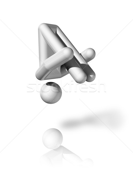 Gymnastics Trampoline 3D symbol Stock photo © daboost