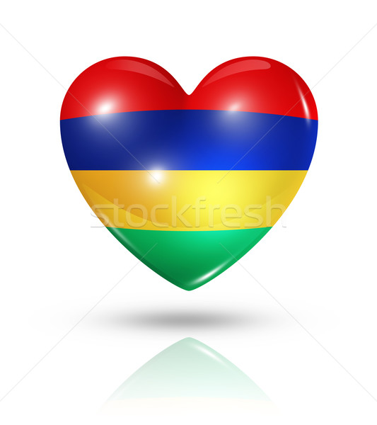 любви Маврикий сердце флаг икона символ Сток-фото © daboost