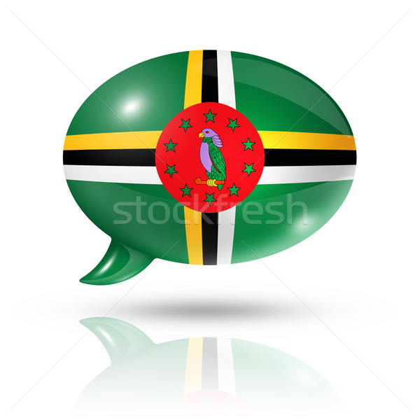 Dominican flag speech bubble Stock photo © daboost