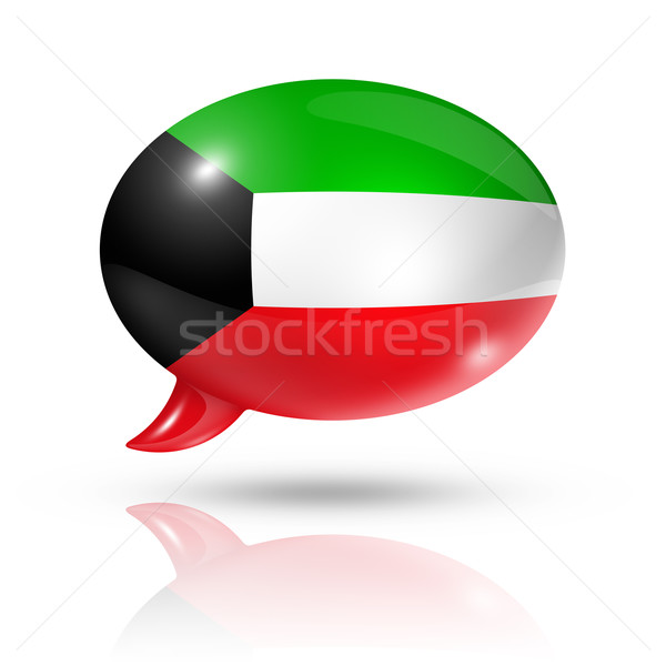 Kuwaiti flag speech bubble Stock photo © daboost