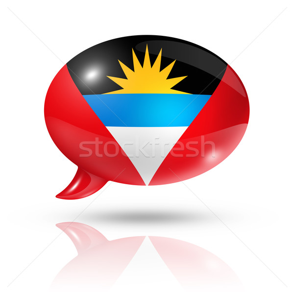 Antigua and Barbuda flag speech bubble Stock photo © daboost