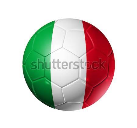 Voetbal voetbal bal Italië vlag 3D Stockfoto © daboost