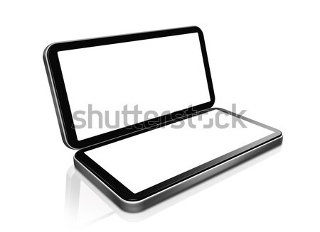 mobile phone - portable handheld game console Stock photo © daboost