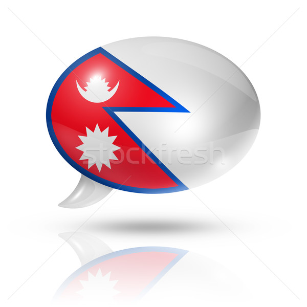 Nepalese flag speech bubble Stock photo © daboost