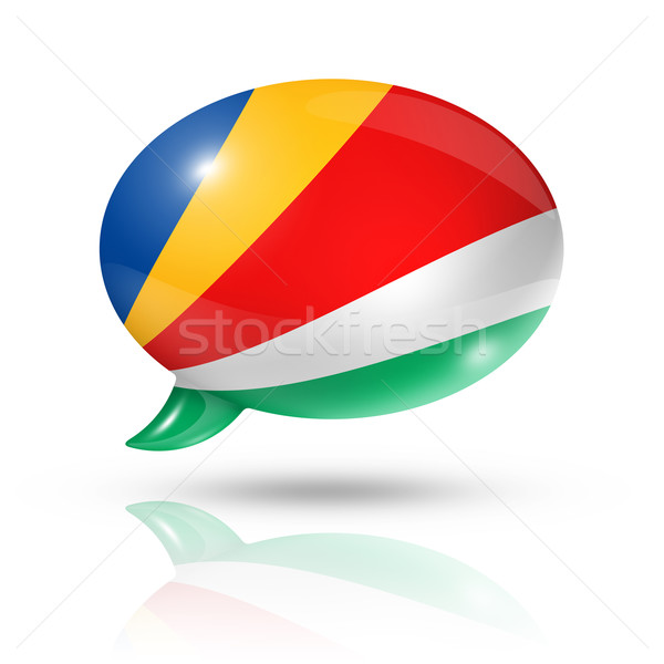 Seychelles flag speech bubble Stock photo © daboost
