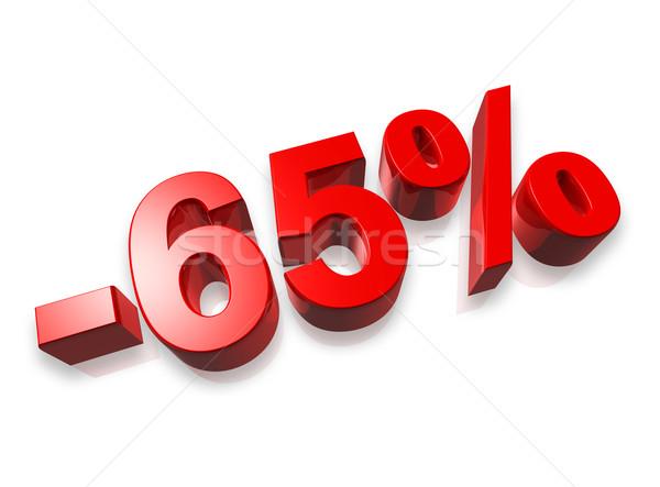 Zestig vijf procent 3D aantal geïsoleerd Stockfoto © daboost