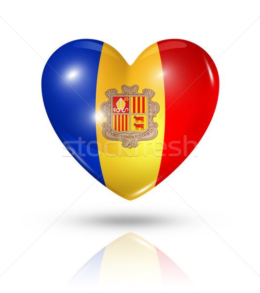 Liebe Andorra Herz Flagge Symbol Symbol Stock foto © daboost