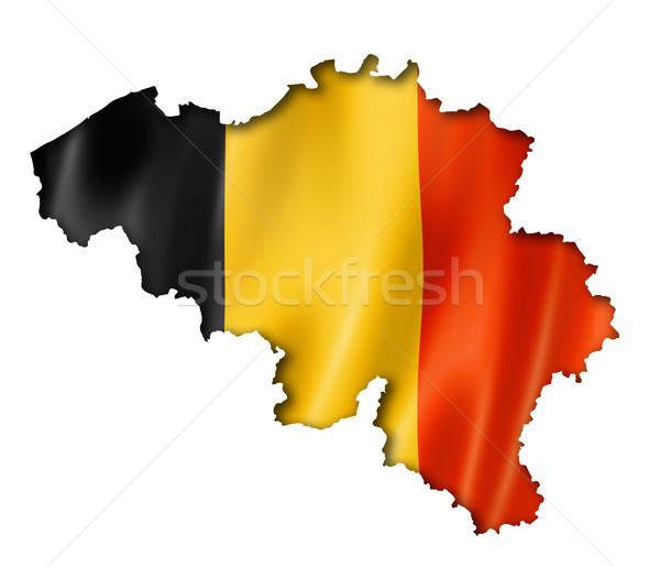 Banderą Pokaż Belgia trójwymiarowy oddać odizolowany Zdjęcia stock © daboost