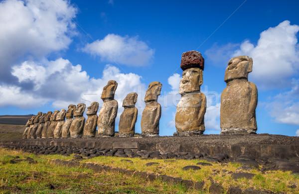 Ilha de Páscoa Chile paisagem oceano azul viajar Foto stock © daboost
