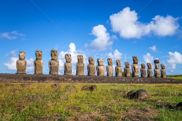 Páscoa ilha paisagem oceano azul grupo Foto stock © daboost