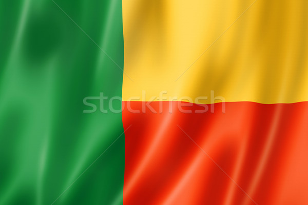 Benin bandiera tridimensionale satinato texture Foto d'archivio © daboost