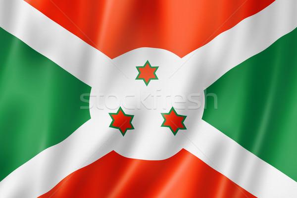 Bandeira Burundi tridimensional tornar cetim textura Foto stock © daboost