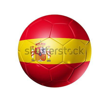 Soccer football ball with Spain flag Stock photo © daboost