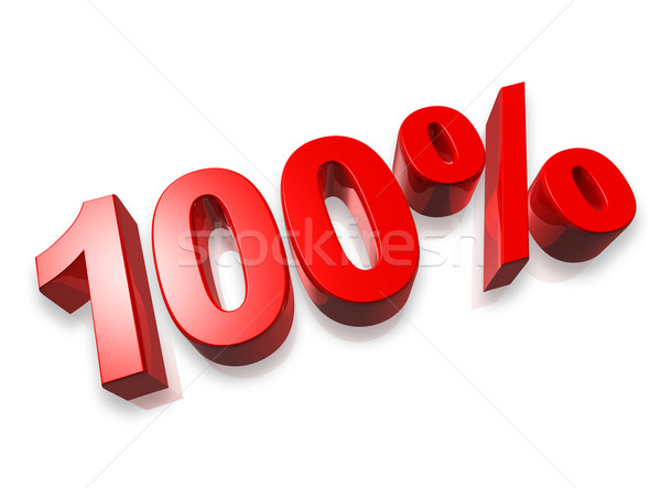 100% one hundred percent Stock photo © daboost