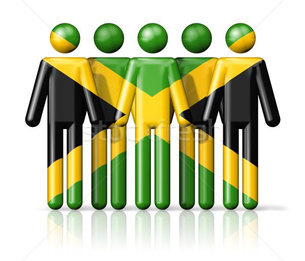 Bandeira Jamaica social comunidade símbolo Foto stock © daboost