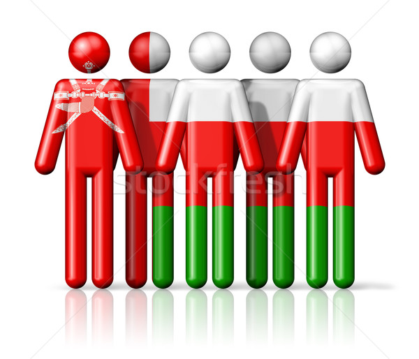 Flag of Oman on stick figure Stock photo © daboost