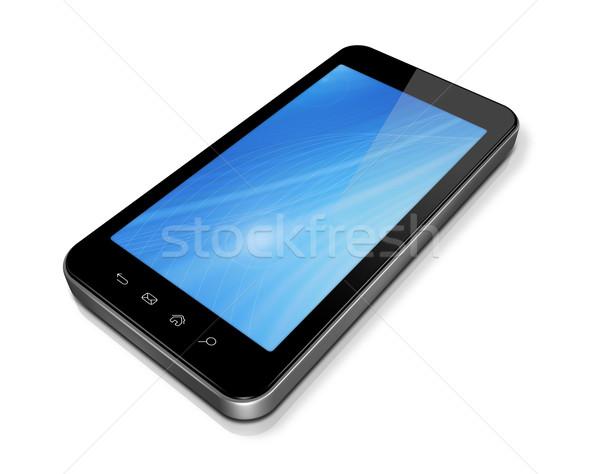3D telefonu komórkowego pda odizolowany biały Zdjęcia stock © daboost