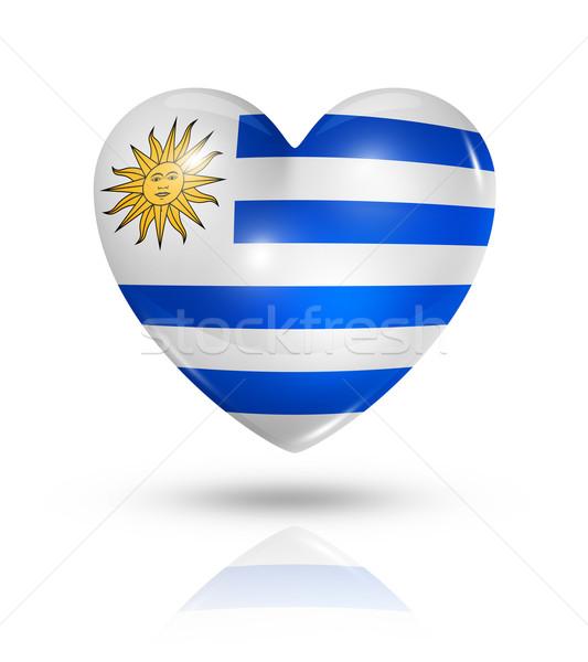любви Уругвай сердце флаг икона символ Сток-фото © daboost