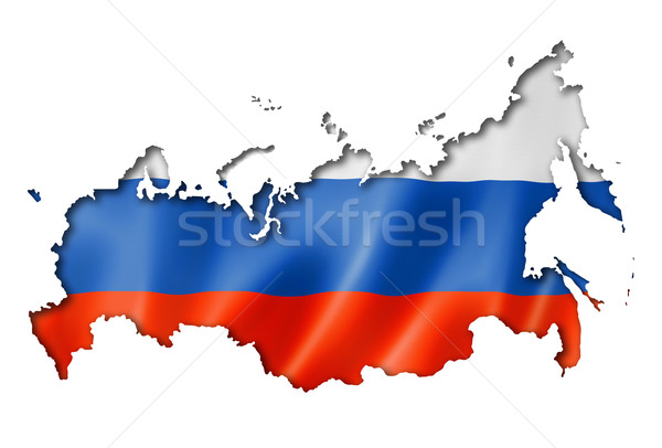 Russian flag map Stock photo © daboost