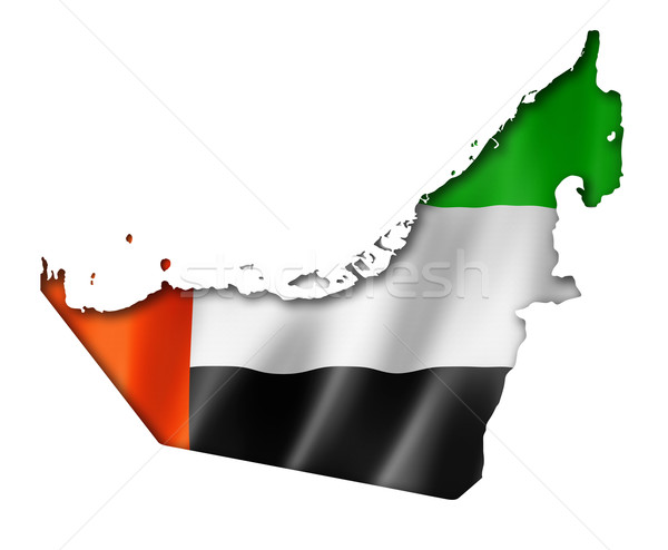 Emirados Árabes Unidos bandeira mapa tridimensional tornar isolado Foto stock © daboost