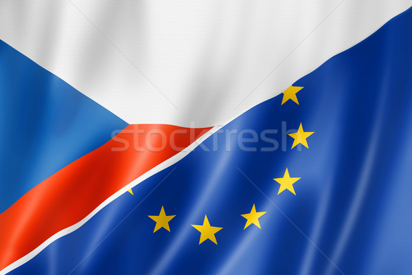 Czech Republic and Europe flag Stock photo © daboost