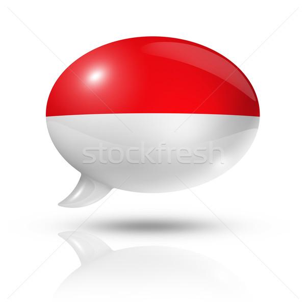 индонезийский флаг речи пузырь Индонезия изолированный Сток-фото © daboost