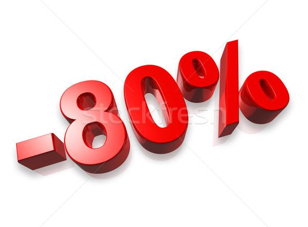 80 oitenta por cento 3D número isolado Foto stock © daboost