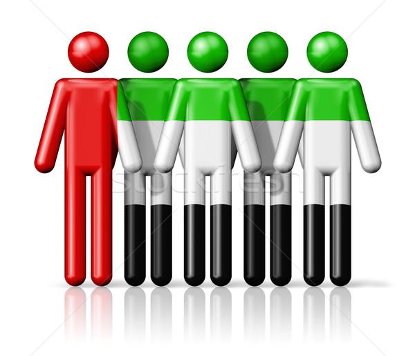 Bandeira Emirados Árabes Unidos social comunidade símbolo Foto stock © daboost