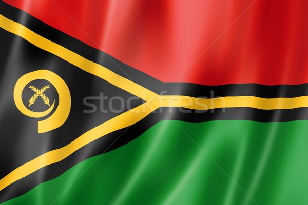 Vanuatu bandeira tridimensional tornar cetim textura Foto stock © daboost