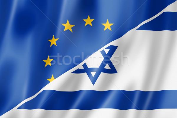 Европа Израиль флаг смешанный оказывать Сток-фото © daboost