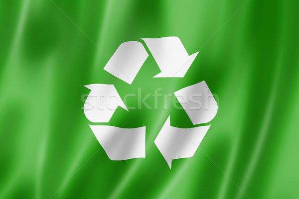 recycling symbol flag Stock photo © daboost