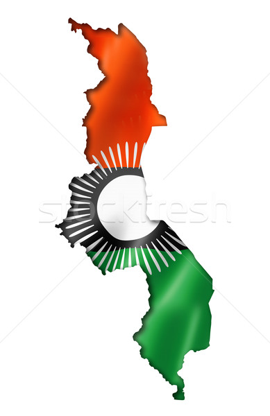 Малави флаг карта оказывать изолированный Сток-фото © daboost