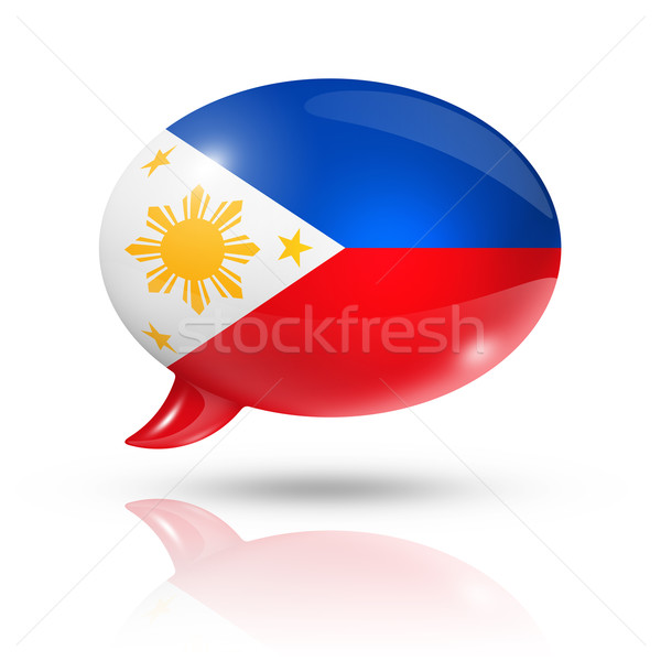 Philippines flag speech bubble Stock photo © daboost