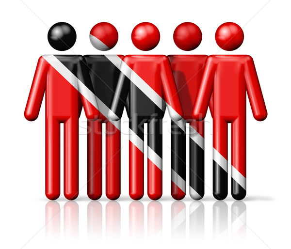 Flag of Trinidad And Tobago on stick figure Stock photo © daboost
