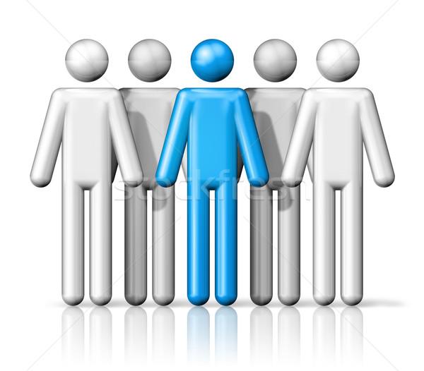 Groupe bâton personnes groupe de gens blanche Photo stock © daboost