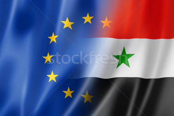 Foto stock: Europa · Síria · bandeira · misto · tridimensional · tornar