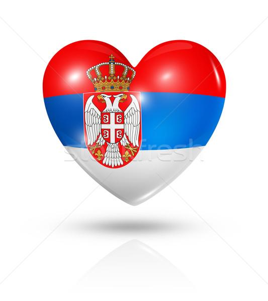 Amor Serbia corazón bandera icono símbolo Foto stock © daboost