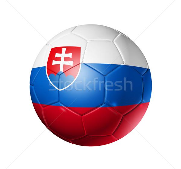 Voetbal voetbal bal Slowakije vlag 3D Stockfoto © daboost