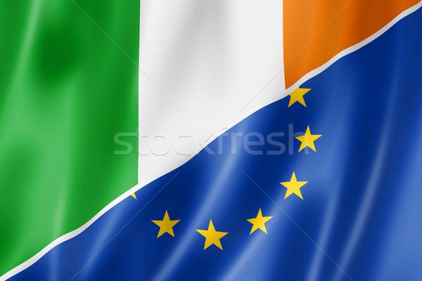 Ireland and Europe flag Stock photo © daboost