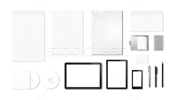 Kurumsal marka şablon beyaz yalıtılmış Stok fotoğraf © daboost