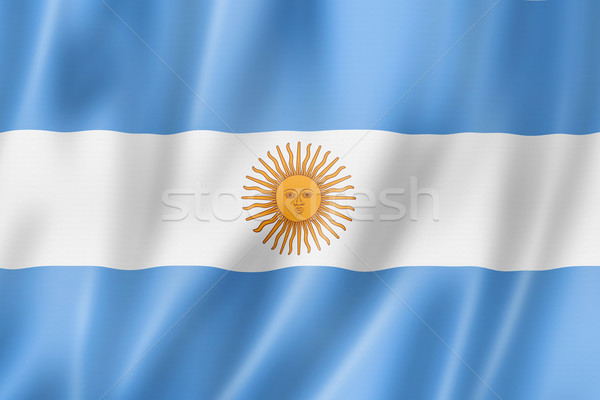 Argentinian flag Stock photo © daboost