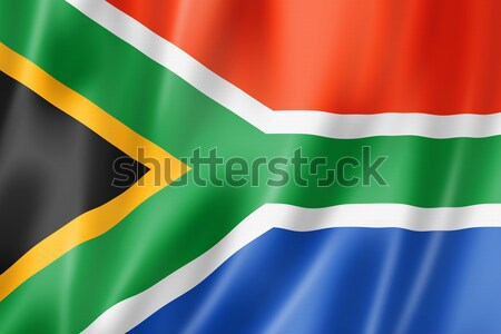 South African flag Stock photo © daboost
