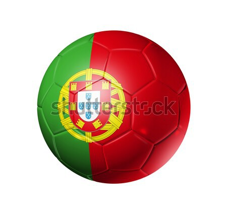 Soccer football ball with Portugal flag Stock photo © daboost