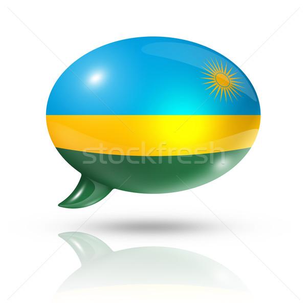 Rwanda pavillon bulle isolé blanche Photo stock © daboost