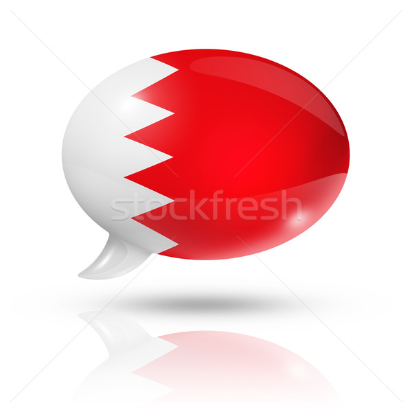 Bahrain flag speech bubble Stock photo © daboost