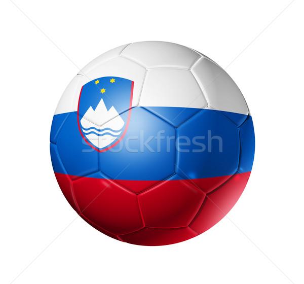 Voetbal voetbal bal Slovenië vlag 3D Stockfoto © daboost